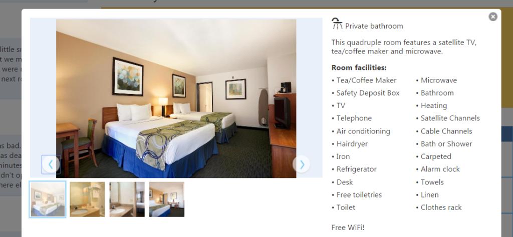 hotel w USA z dzieckiem