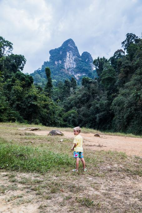 Khao Sok z dzieckiem